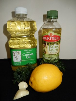 Lemon, Oils, Garlic, & Dill