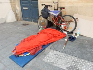 Dijon Sleeping on the Street